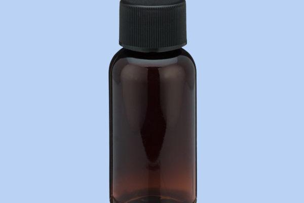 1-oz-amber-pet-plastic-boston-round-bottles